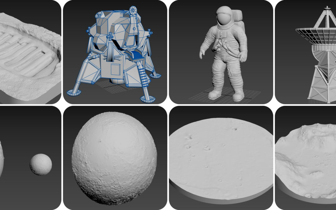 Accessible Scaled Models for the Lunar Museum